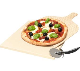 Zestaw do pieczenia pizzy Electrolux E9OHPS1, kamień z nożem i łopatką @ Euro