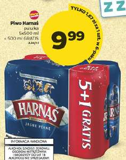 Piwo Harnaś - 6 sztuk