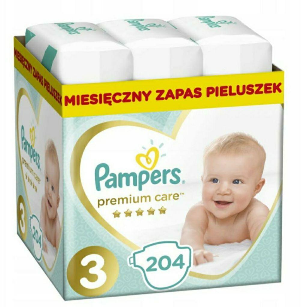 PAMPERS Pieluchy Premium Care 3 Midi 204 szt.
