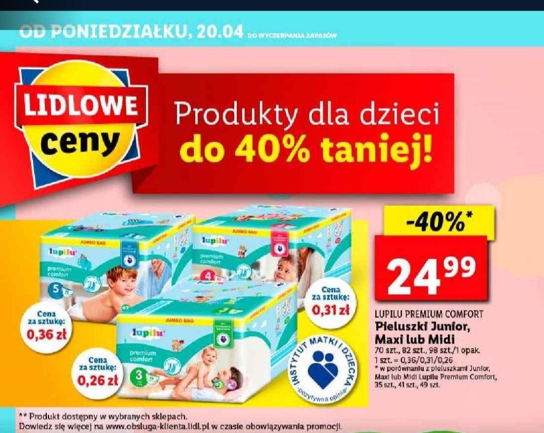 Pieluszki Lupilu w Lidl -40%