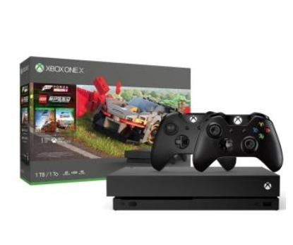 Xbox One X z Forzą 4, dodatkiem Lego i 2 pady