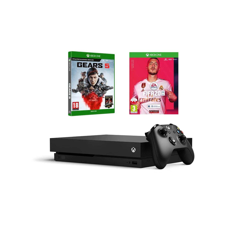 Xbox one x + FIFA 20 + Gears 5 1399, możliwe 1344 z newsletterem