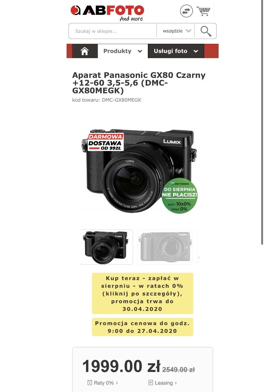 Panasonic Lumix GX80 12-60mm 3.5-5.6