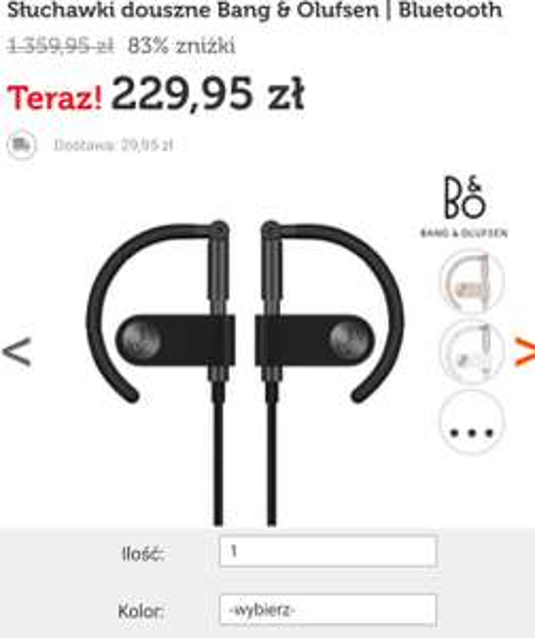 Słuchawki douszne Bang & Olufsen   Bluetooth
