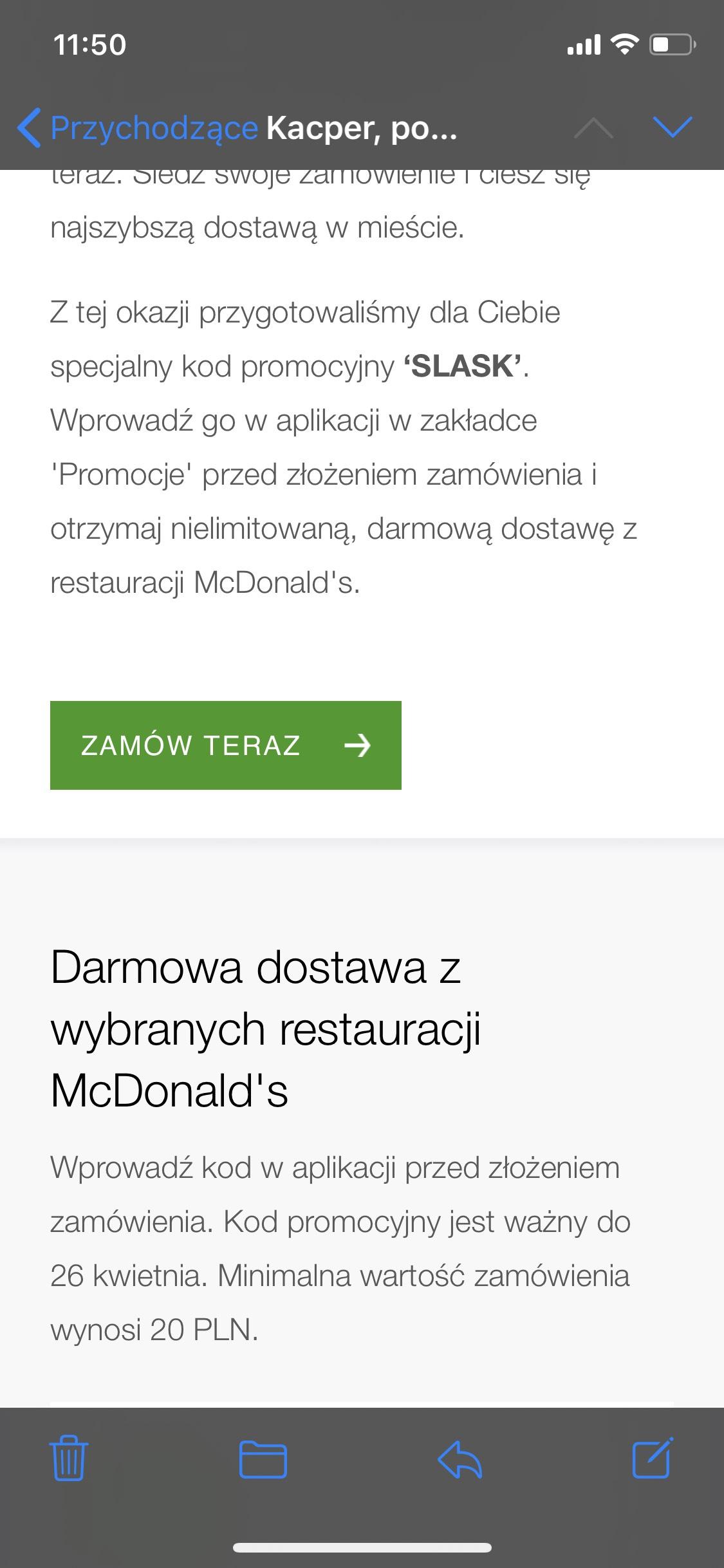 Darmowa nielimitowana dostawa UberEats w McDonalds + 2 nowe miasta