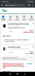 Honor Watch Magic 2 46mm + Honor Band 5 za 800 zł