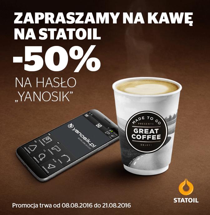 Kawa na Statoil 50% tańsza z hasłem Yanosik