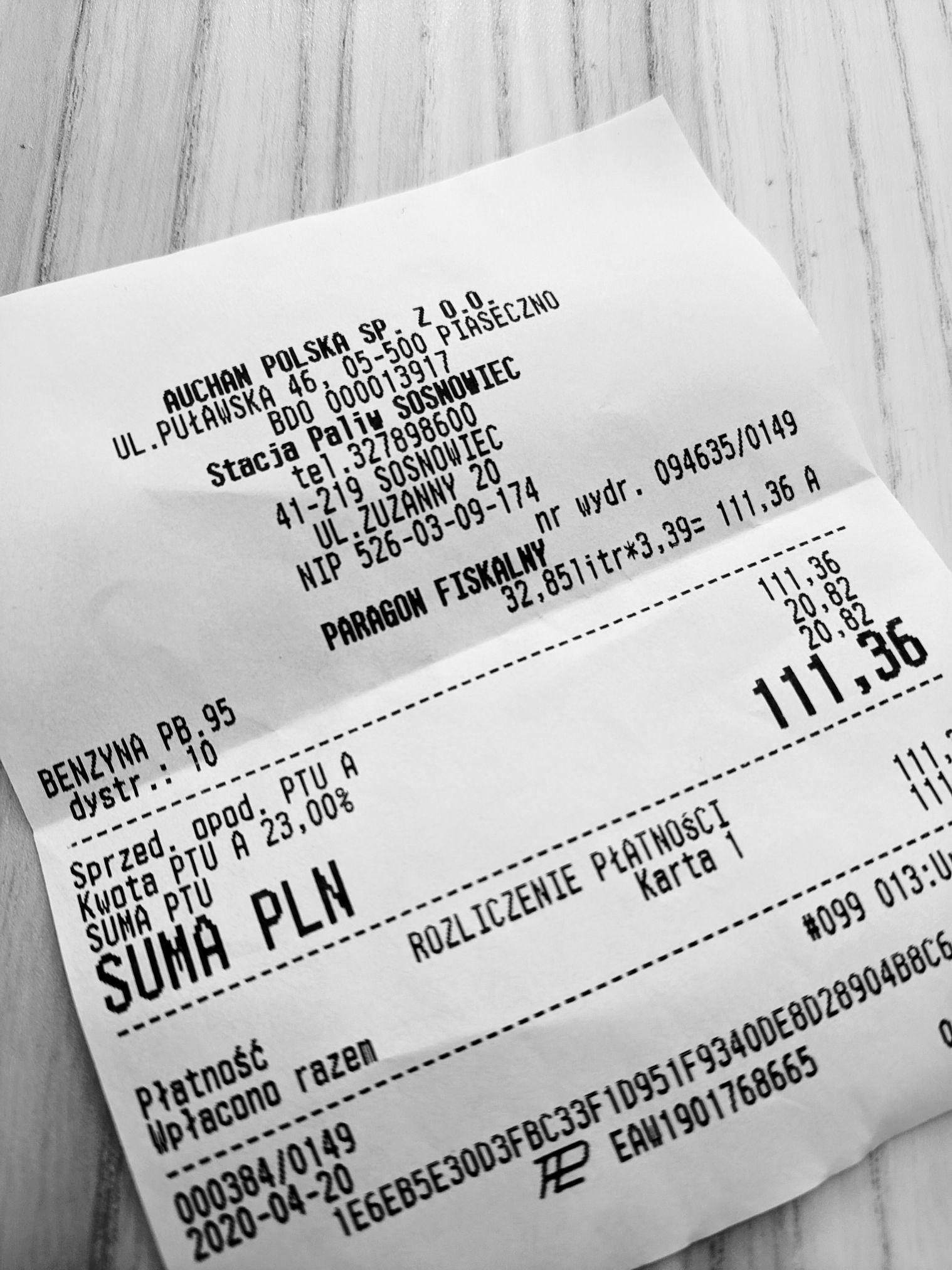 Auchan Sosnowiec Paliwo, Pb95 3,35, Pb98 3,48, ON 3,49, LPG 1,49