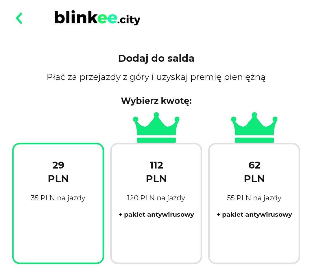 Tańsze doładowanie Blinkee i specjalna promocja dla wolontariuszy i medykow