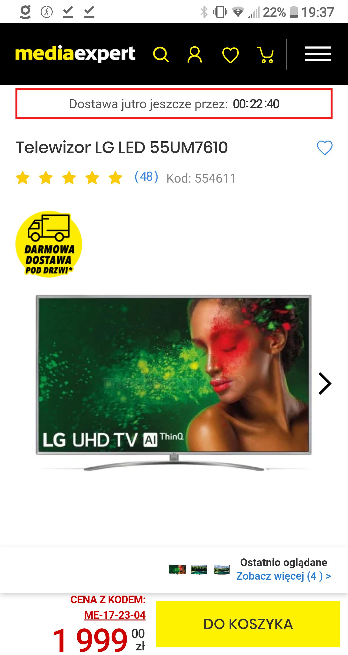 Telewizor LG 4K 55UM7610