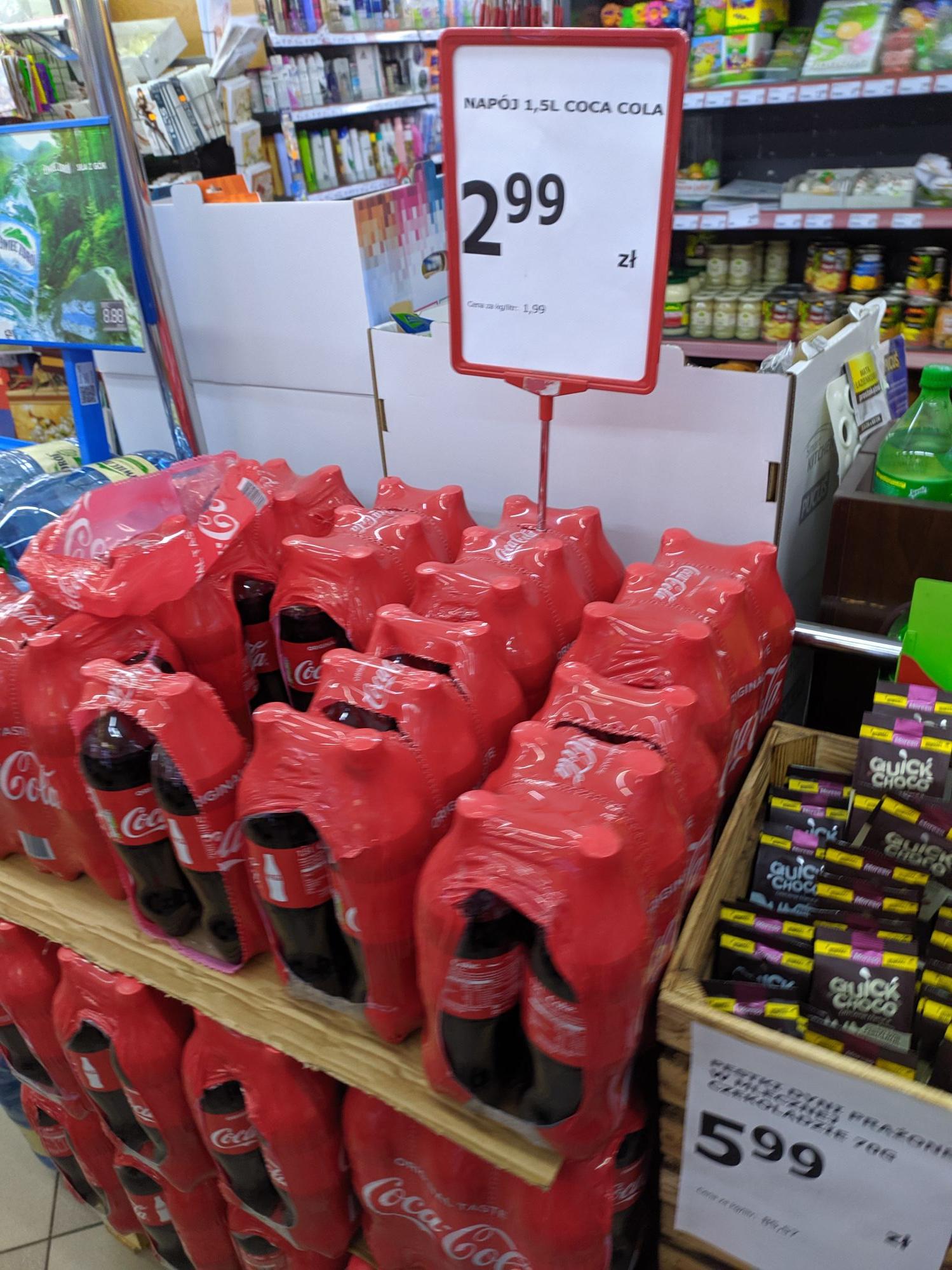Coca-cola 1.5 L za 2.99 w spar