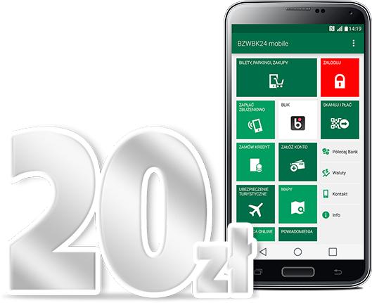 20PLN za płatności mobilne @ BZ WBK