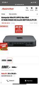 Komputer Mini PC APPLE Mac Mini i7/16GB/256GB SSD/macOS MRTT2ZE/A/P1/R1