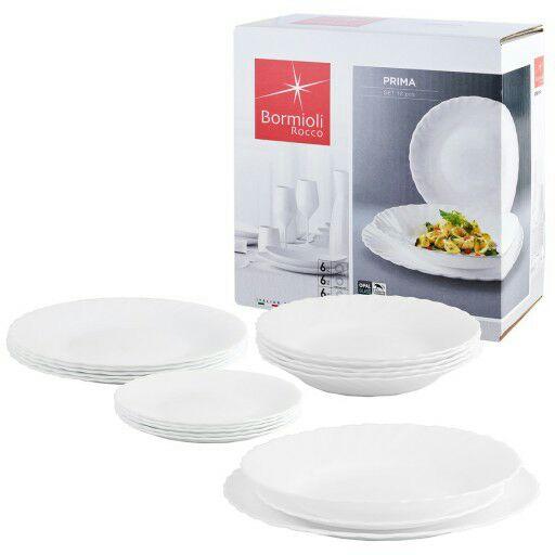 Komplet obiadowy Bormioli Rocco Prima 18 elementów Auchan