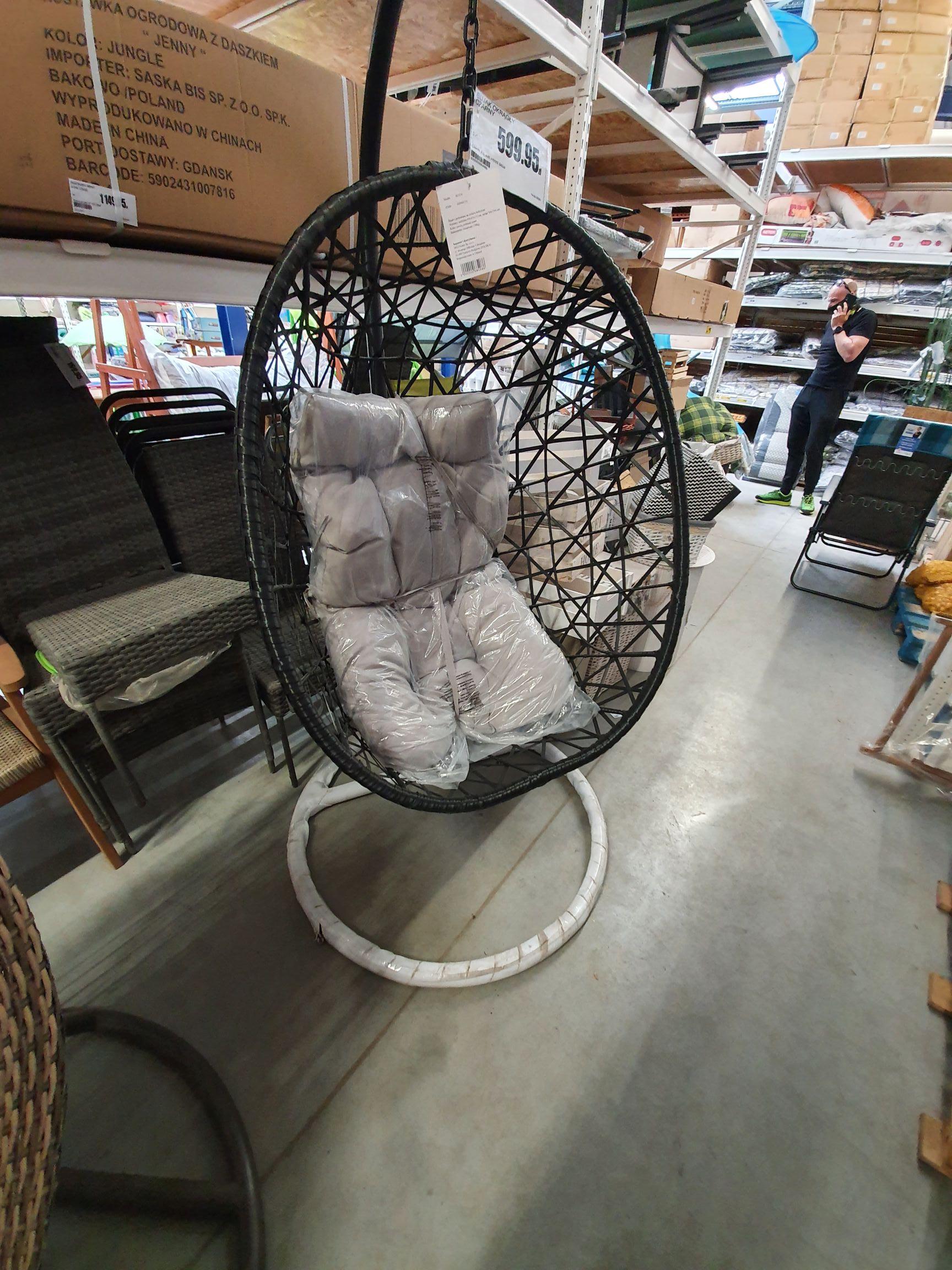 Fotel bujany, huśtawka, kokon bricomarche