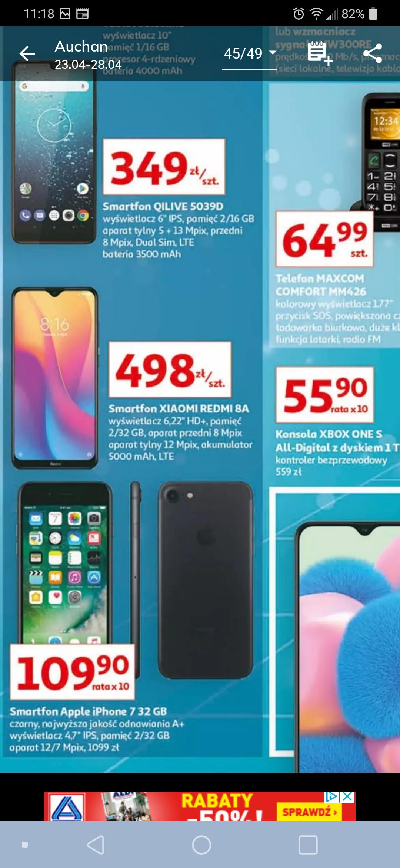 Od 23.04 Iphone 7 32GB odnowiony za 1099 zł w Auchan.