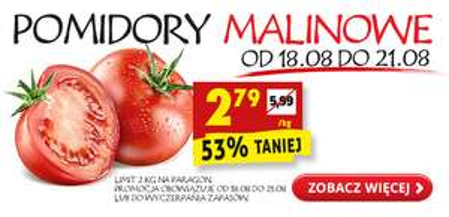 Pomidory malinowe kg @Biedronka