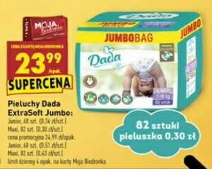 Pieluchy Dada ExtraSoft (Jumbo box) w Biedronce