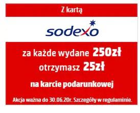 25zł za każde wydane 250zł w Media Markt z sodexo