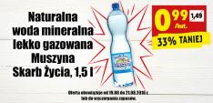 Woda mineralna Muszyna Skarb Życia 1,5l/1 but @Biedronka