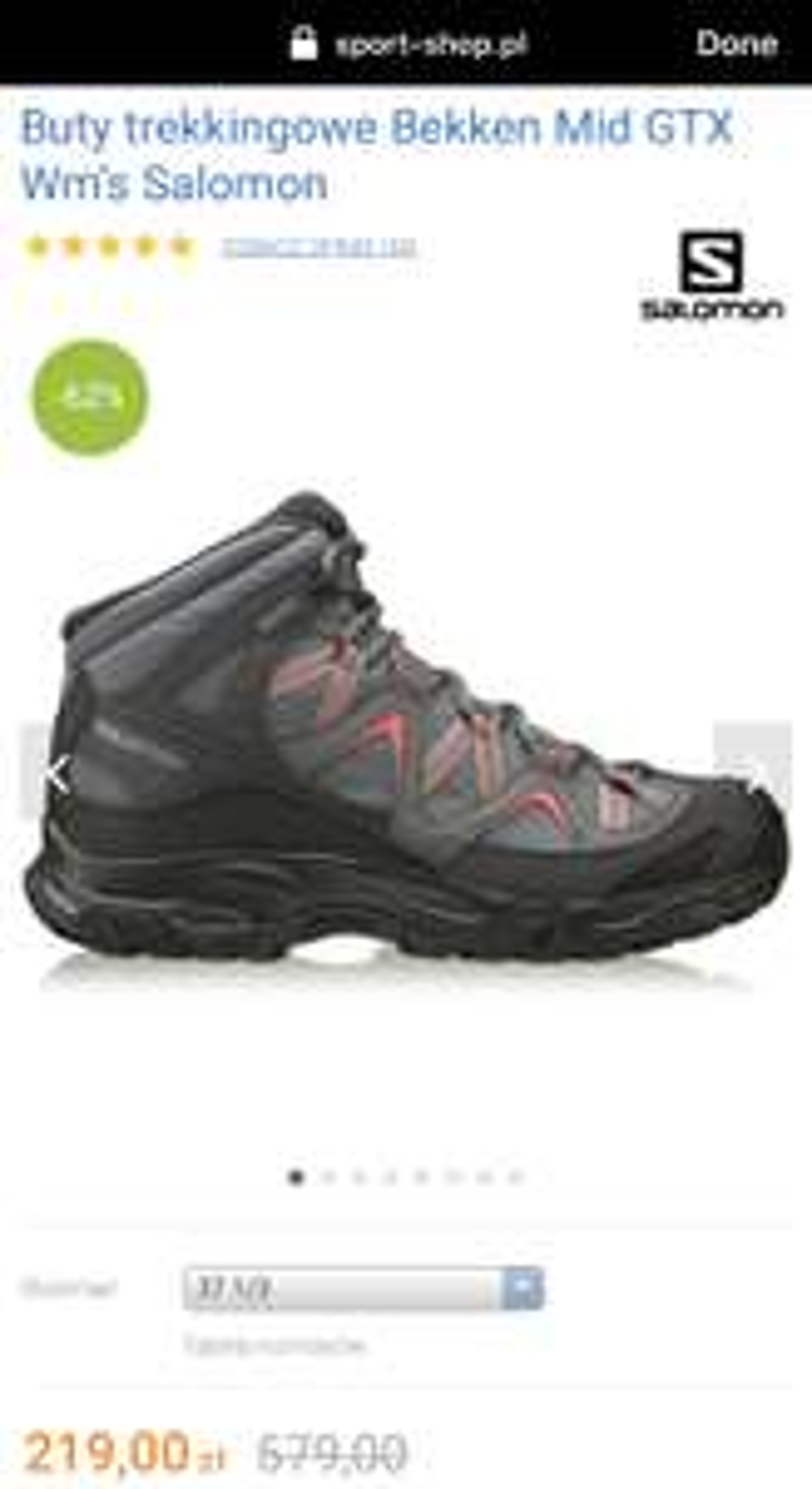 Damskie wysokie buty Salomon z Gore-Tex