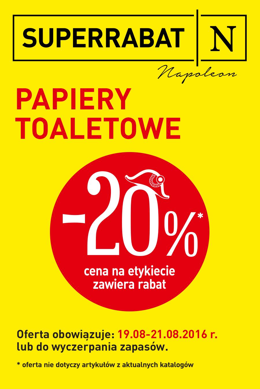 Papiery toaletowe -20% @ Carrefour