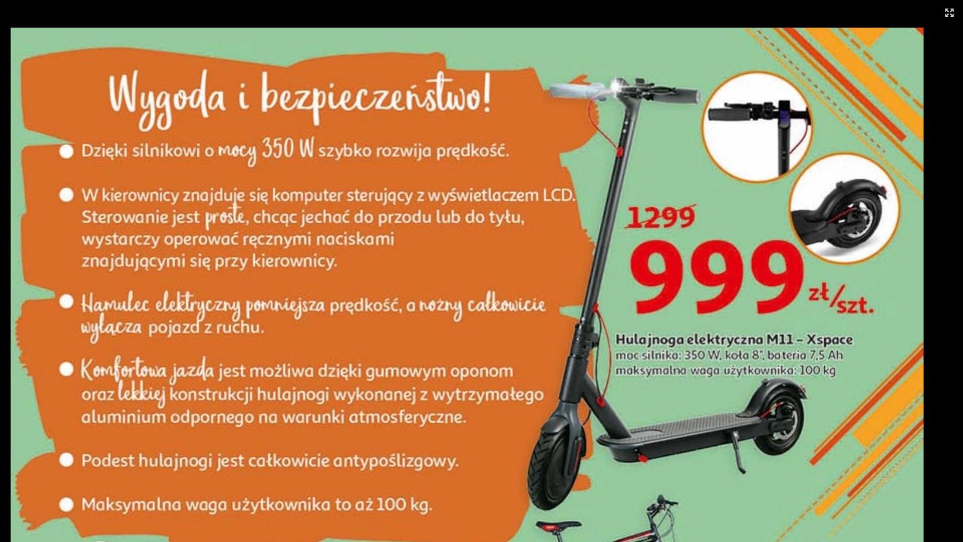 HULAJNOGA ELEKTRYCZNA M11-XSPACE 350W 6.0Ah eXplay