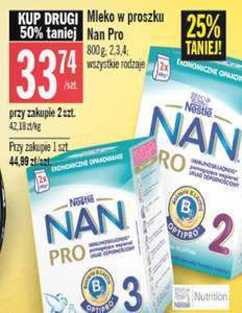 Mleko Nestle NAN 800g za 33,74zł @ Stokrotka/Intermarche