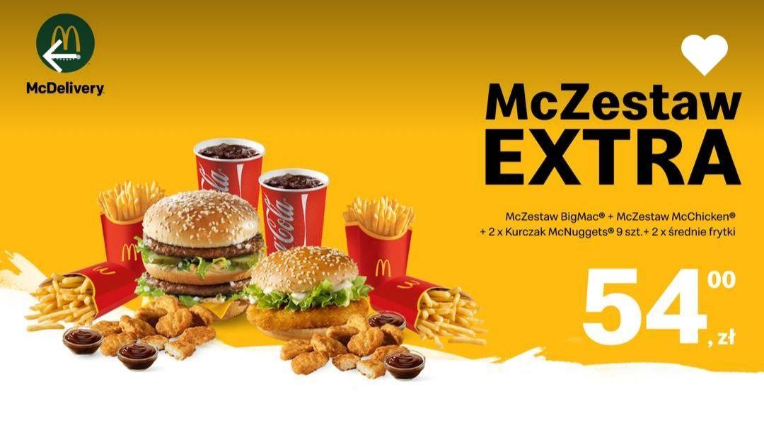 Super zestaw McDonald's z darmową dostawą na UberEats