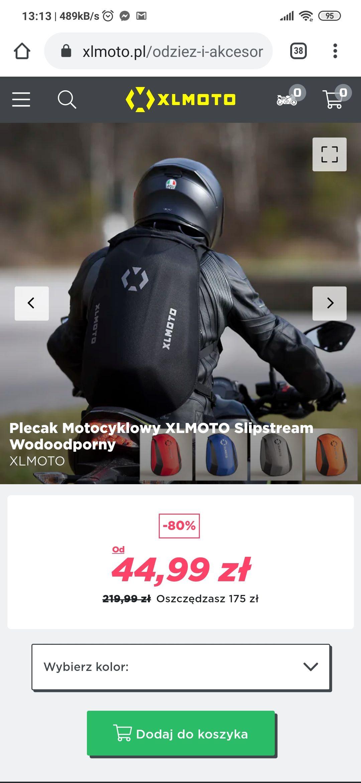 Plecak na motocykl