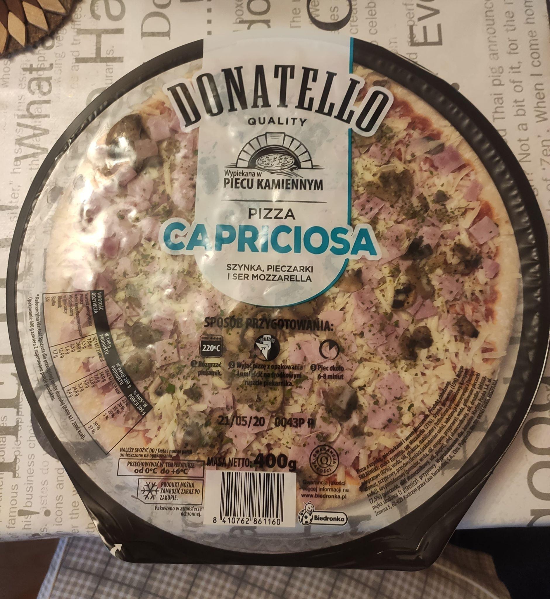 Pizza capriciosa donatello