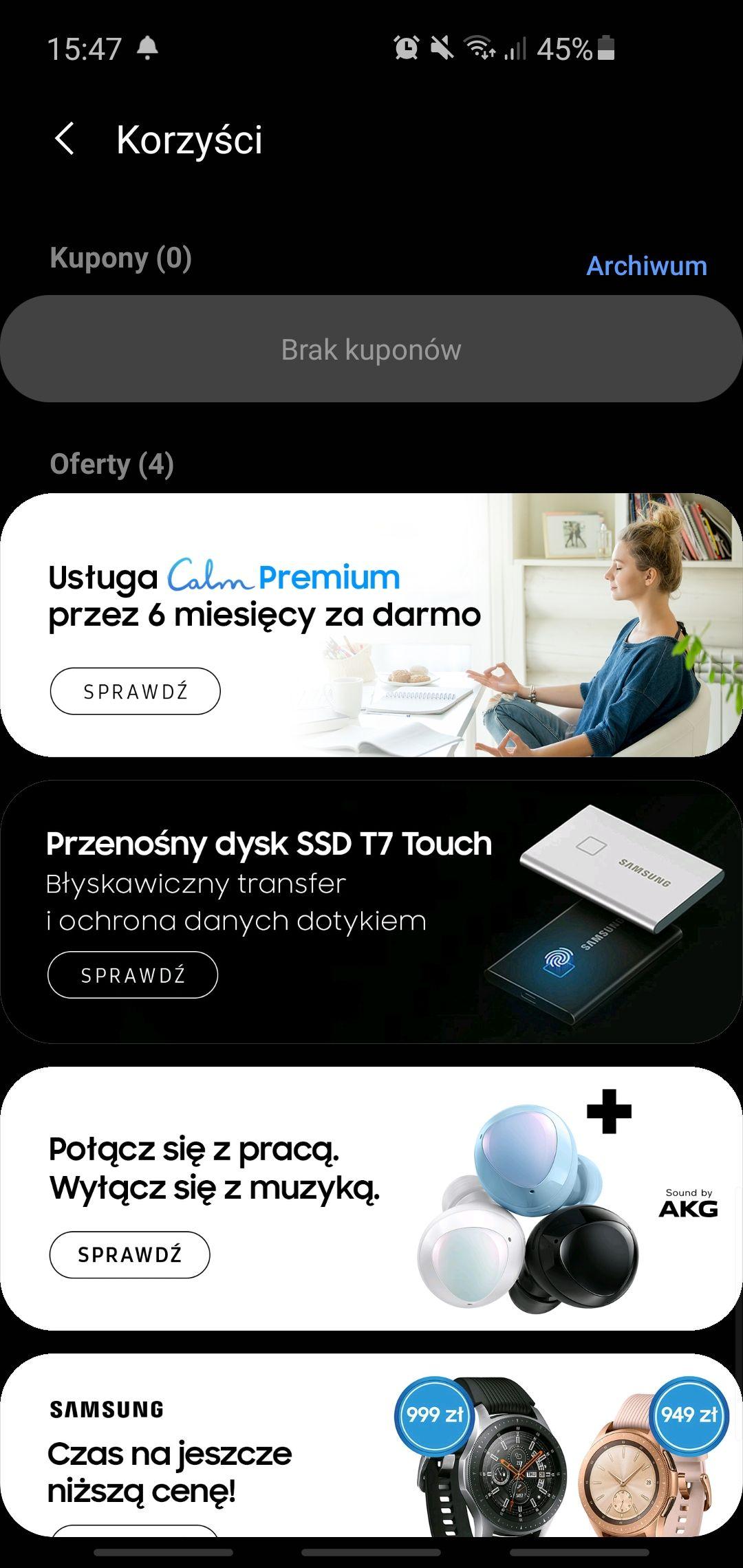 Pół roku subskrypcji aplikacji Calm dla użytkowników Samsung Health