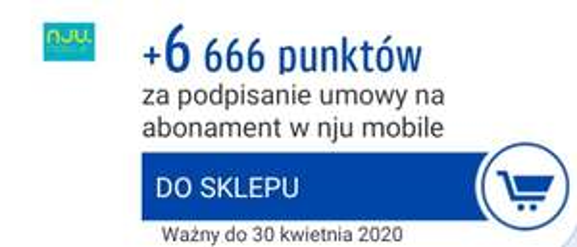 6666 punktów Payback za umowę w nju mobile