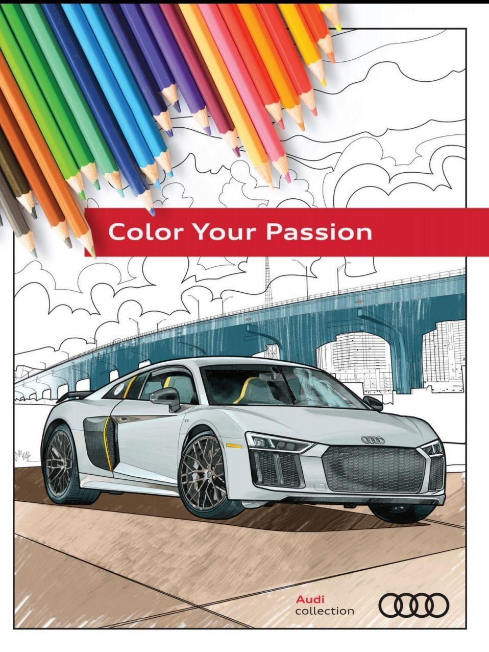Audi Coloring Book - Kolorowanka samochodowa