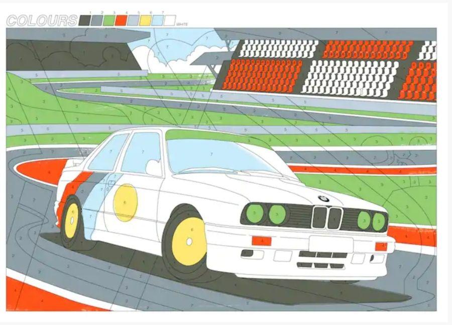 BMW kolorowanka i papierowe modele