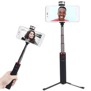 Selfie Stick i Statyw do Live'ów z kontrolerem bluetooth INSMA INS-10 All In One LED Fill Light Extendable