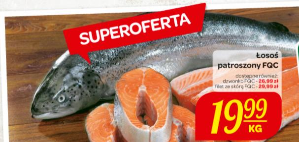 Łosoś patroszony za 19,99zł/kg @ Carrefour