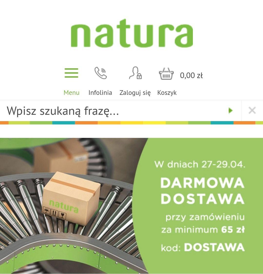 Natura - darmowa dostawa 27-29.04 minimum 65 zł