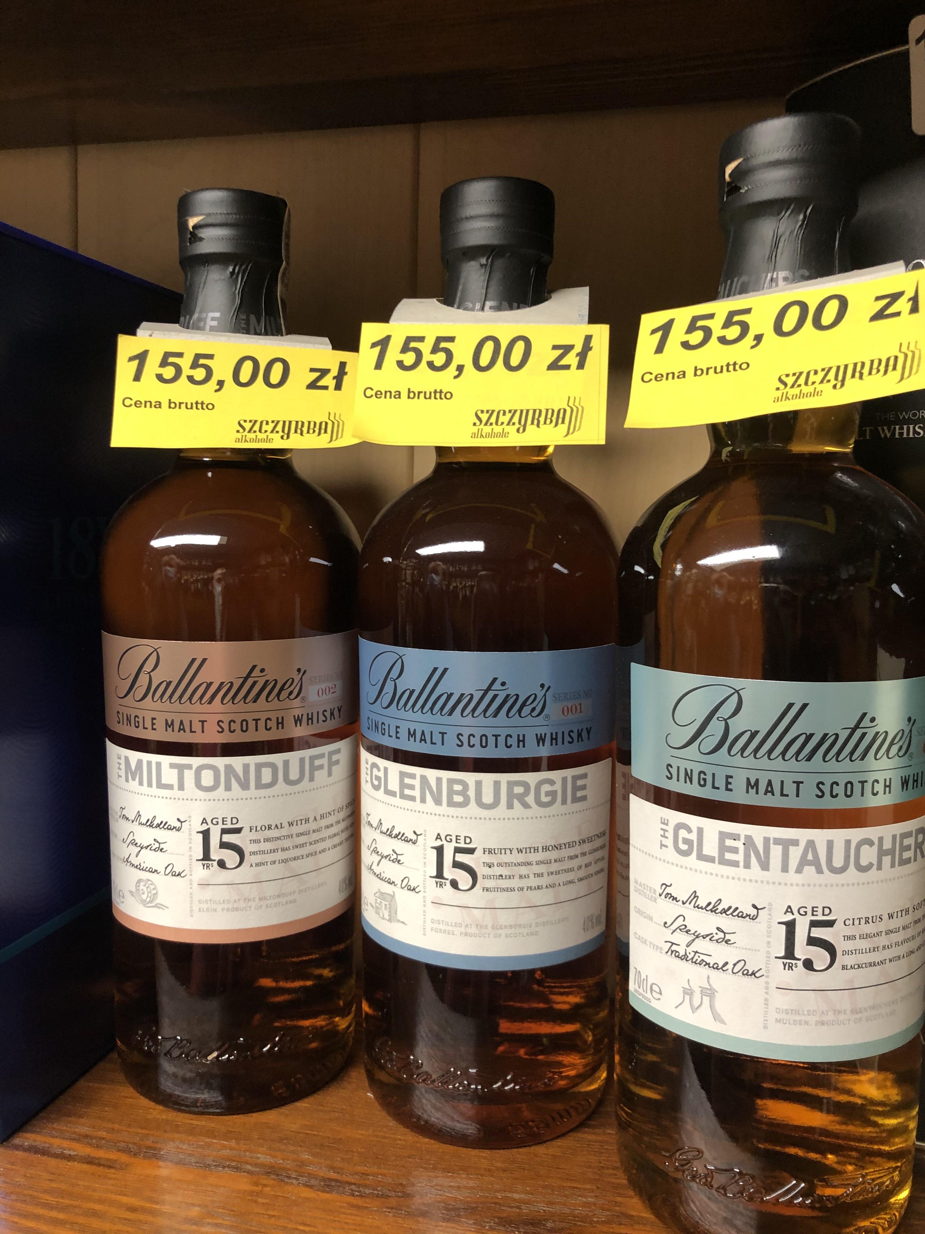 Whisky Ballantine's 15 yo - Single Malt 15letni Ballantines GLENBURGIE GLENTAUCHERS MILTONDUFF