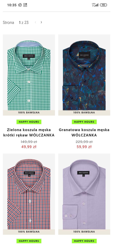 Wólczanka - koszule z rabatem 80%