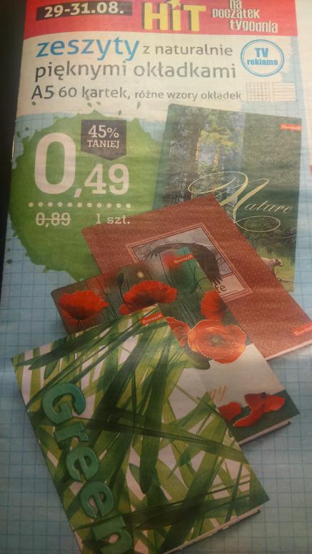 Zeszyt A5 60 kartek @Intermarche