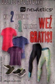 Kup 3 zapłać za 2 produkty newletics + Zestawienie - Kaufland
