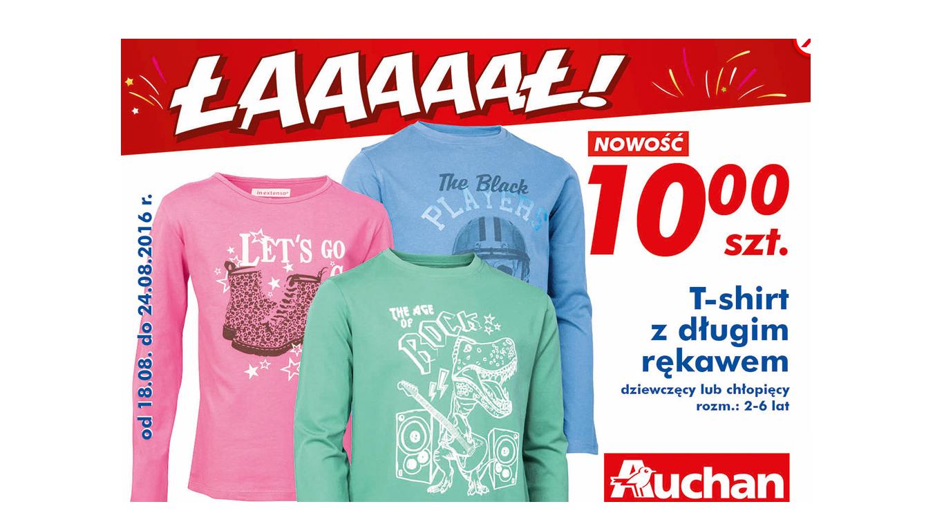 T-shirt z długim rękawem dziecięcy szt @Auchan
