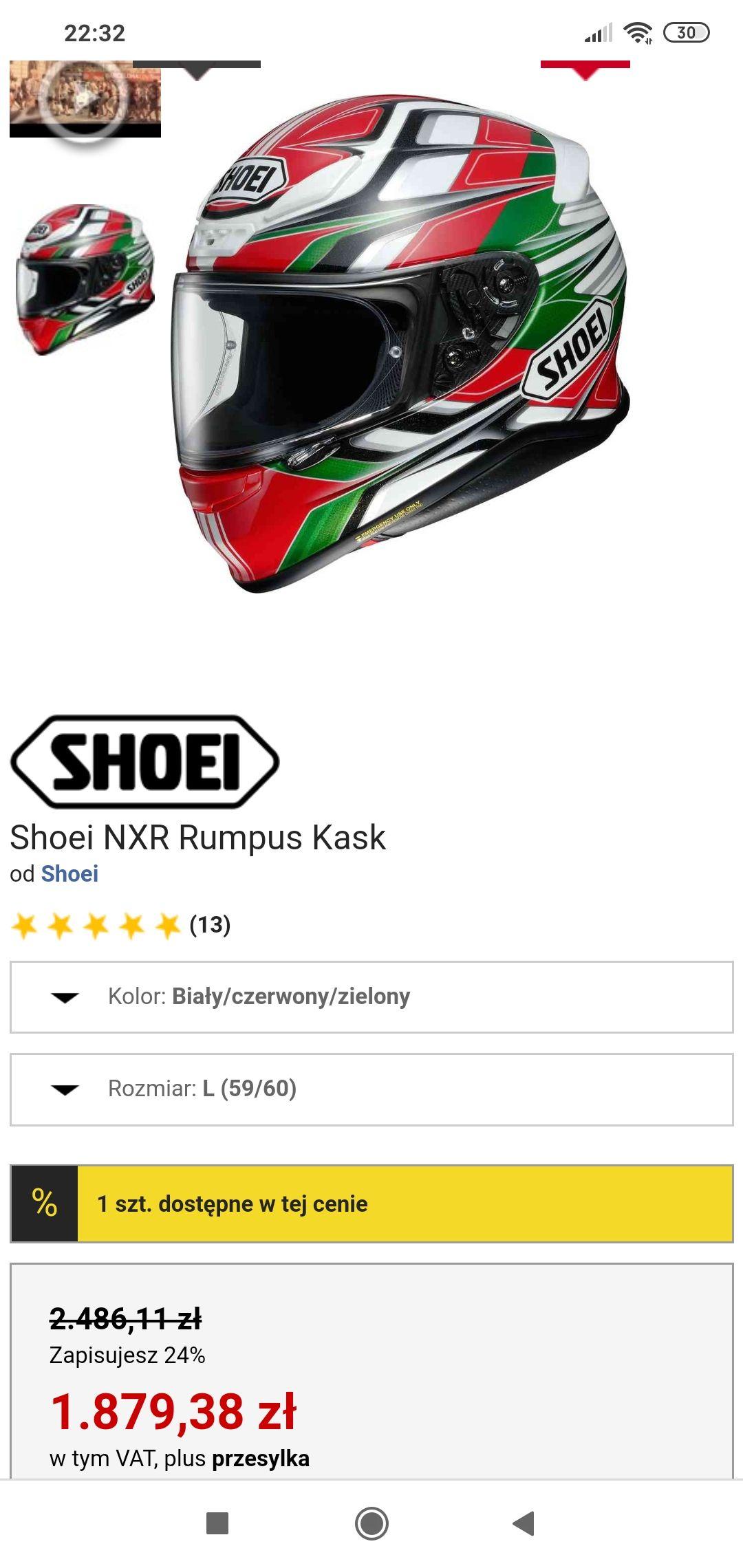 Kask Shoei NXR Rumpus
