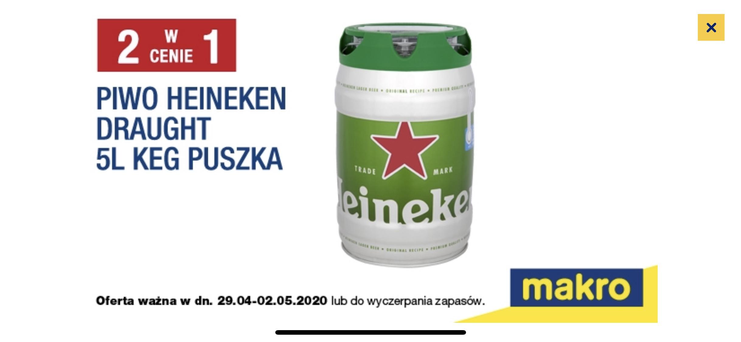 Piwo Heineken draught 5L MAKRO