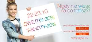 Tylko do dziś! Swetry -30%, T-shirty -20% @ Reporter Young
