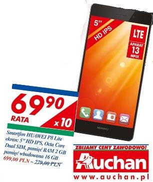 Huawei P8 Lite w dobrej cenie @Auchan