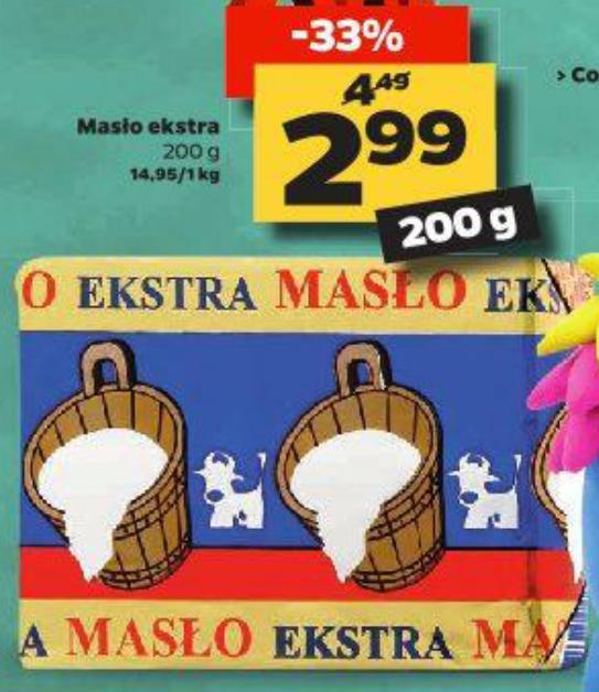 Masło Ekstra 200g w Netto