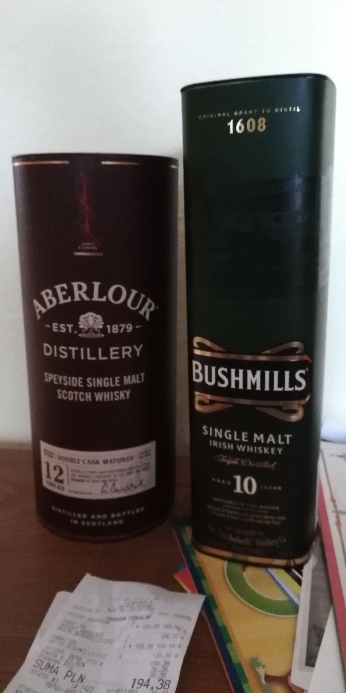 -10% na whisky, brandy, rum, tequila w Winnicy Lidla np Aberlour 12 double cask