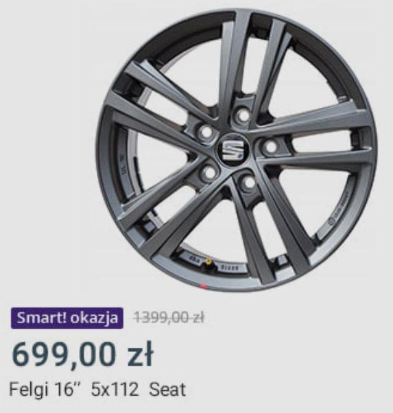 "Felgi 16"" 5x112 Seat - Allegro Smart Okazja"
